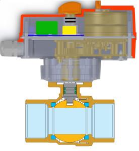 2 way brass ball valve with electric actuator Enolgas USA