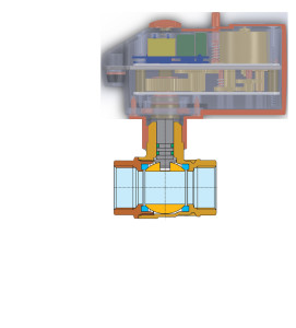 Actuated Brass Ball Valve with Quick Mounting